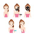 Girl Mask Face vector image vector image