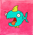 Happy Shark Cartoon vector image