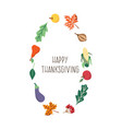 happy thanksgiving card template isolated vector image vector image