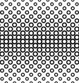 Horizontal repeating black white circle pattern vector image vector image