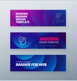 horizontal sale banner background for social vector image