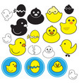 icon little duck on white background vector image vector image