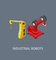 industrial robots set colorful vector image vector image