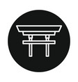 japan torii icon isolated on white backgroun vector image vector image