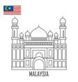 landmark brunei malaysia grand mosque vector image vector image