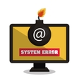 laptop with system error graphic vector image