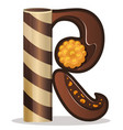 letter r candies chocolate vector image vector image