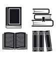 library old books icon set simple style vector image