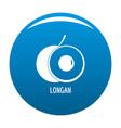 longan icon blue vector image vector image