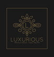 luxurious letter l logo with classic line art