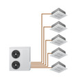 multi split air conditioning system vector image vector image