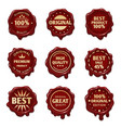 old wax stamps with finest quality advertising vector image vector image