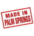 Palm Springs red square grunge made in stamp vector image vector image