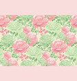 pastel decorative tender rose seamless pattern vector image
