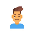 Profile icon male emotion avatar man cartoon