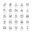 project management line icons 2 vector image vector image