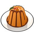 pumpkin pudding with chocolate topping isolated on vector image vector image
