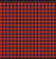 red lumberjack pattern vector image vector image