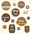 Retro travel labels vector image vector image
