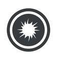 Round black starburst sign vector image vector image