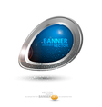 round metal banner vector image vector image