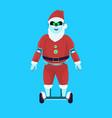 santa claus merry christmas happy new year holiday vector image vector image