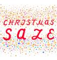Seamless Christmas sale text design vector image