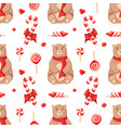 seamless christmas winter pattern background with vector image