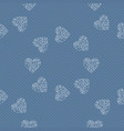 seamless pattern of hearts background vector image vector image