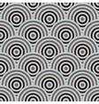 seamless pattern of semi circles vector image