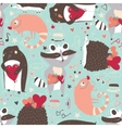 Seamless pattern with cute animals such as vector image