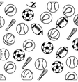 set balls sports equipment vector image vector image
