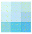 set of blue backgrounds with small golden dots vector image vector image