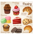 Set of food icons Pastry vector image vector image