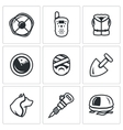 Set of Search and Rescue service Icons