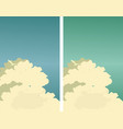 sky clouds poster vector image vector image