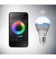 Smart Led Lightbulb vector image vector image