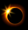 Solar eclipse image astronomical phenomenon of vector image