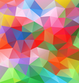 spring colorful abstract polygon triangular vector image vector image