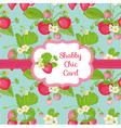 strawberry shabchic theme vector image vector image