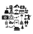 supper icons set simple style vector image vector image