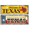 texas sign boards in retro style vector image