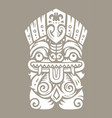 tiki totem mask vector image vector image