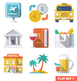 Traveling Flat Icons 1 vector image