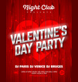 valentines day party poster template vector image