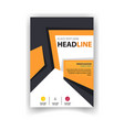 poster modern business design orange template vect vector image