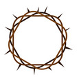 crown of thorns icon isolated vector image