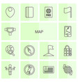 14 map icons vector image vector image