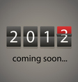 2013 coming soon Paper board vector image vector image