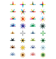 abstract colorful icons vector image vector image